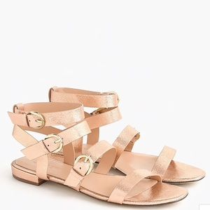 J. Crew | Leather Buckled Gladiator Sandals Sz 7.